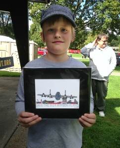 Miles and his drawing of Willow Run