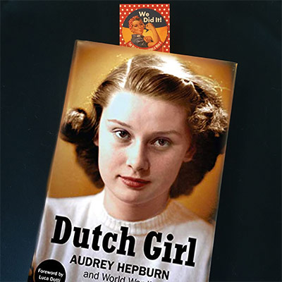 Audrey Hepburn in WWII book